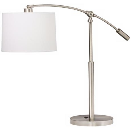 Kichler Cantilever Brushed Nickel Swing Arm Table Lamp