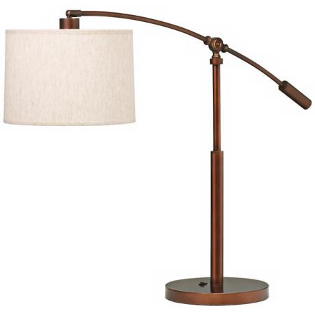 Kichler Cantilever Copper Bronze Swing Arm Table Lamp