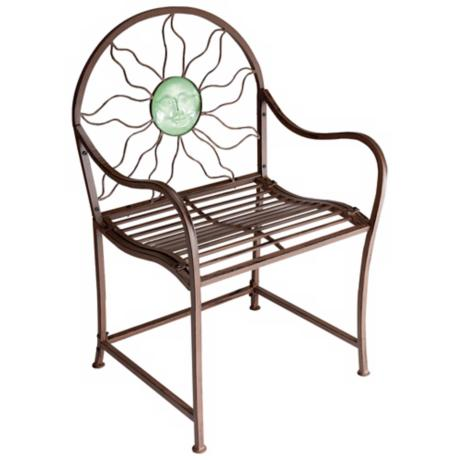 Sun Medallion Rustic Red Outdoor Garden Chair