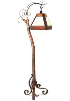 Sunset Woods Tree Branch Floor Lamp