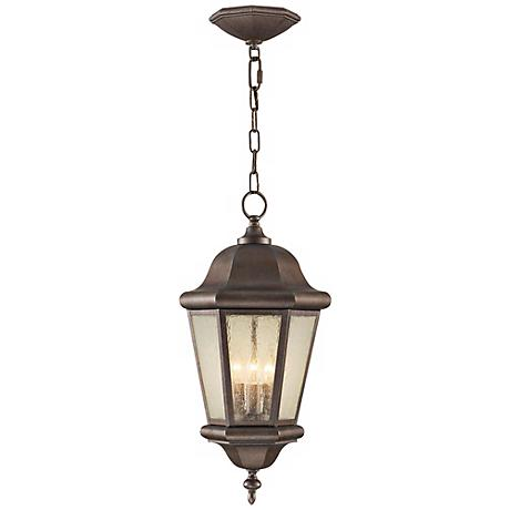 "Feiss Martinsville 21"" High Outdoor Hanging Lantern"