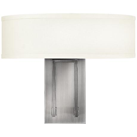 "Hinkley Hampton 12"" High Antique Nickel Wall Sconce"