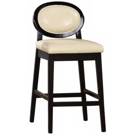 "Martini Series Cream 30"" High Stationary Bar Stool"