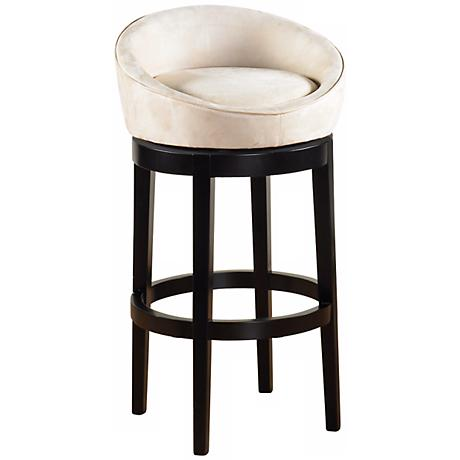 "Igloo Cream Microfiber 26"" High Swivel Counter Stool"
