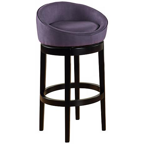 "Igloo Eggplant Microfiber 30"" Swivel Counter Stool"