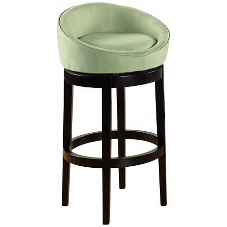 "Igloo Green Microfiber 26"" High Swivel Counter Stool"