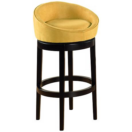 "Igloo Yellow Microfiber 30"" Swivel Bar Stool"