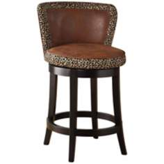 "Lisbon Leopard 26"" High Swivel Counter Stool"