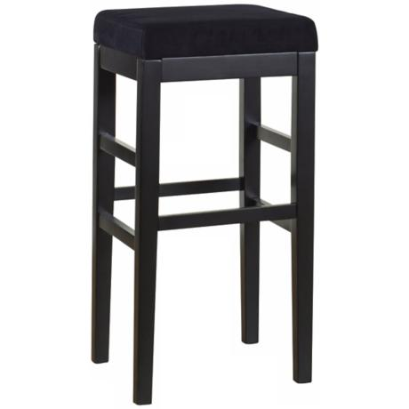 "Sonata Black Microfiber 26"" High Stationary Counter Stool"
