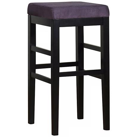"Sonata Eggplant Microfiber 26"" High Stationary Counter Stool"