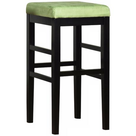 "Sonata Green Microfiber 26"" High Stationary Counter Stool"