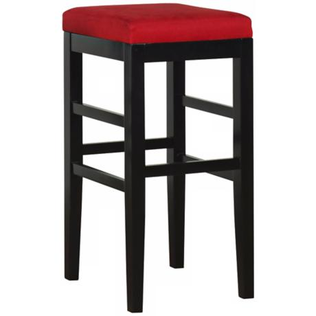 "Sonata Red Microfiber 26"" High Stationary Counter Stool"
