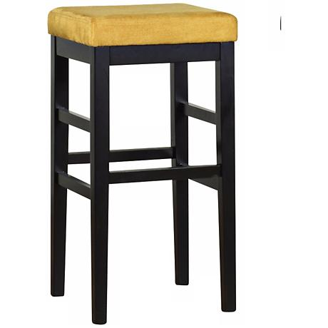 "Sonata Yellow Microfiber 26"" High Stationary Counter Stool"