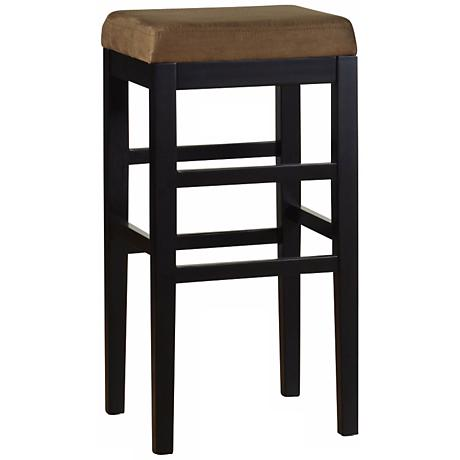"Sonata Brown Microfiber 30"" Stationary Bar Stool"