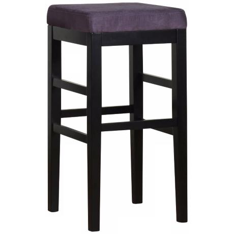 "Sonata Eggplant Microfiber 30"" High Stationary Bar Stool"
