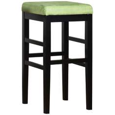 "Sonata Green Microfiber 30"" High Stationary Bar Stool"