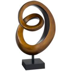 Gold Copper Spiral Sculpture
