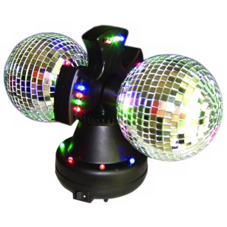 Twin Mirror Ball Accent Light