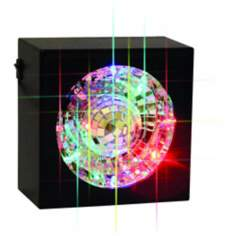 "5"" Square Rotating Mirror Ball Accent Light"