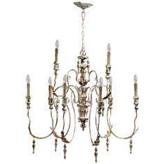 "Quorum Salento 9-Light 32"" Wide Persian White Chandelier"