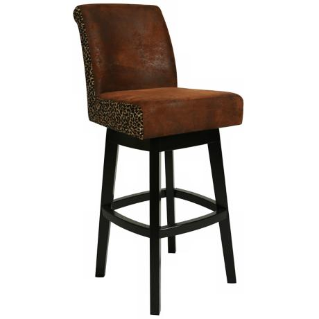 "Lake Village Leopard Swivel 26"" High Counter Stool"