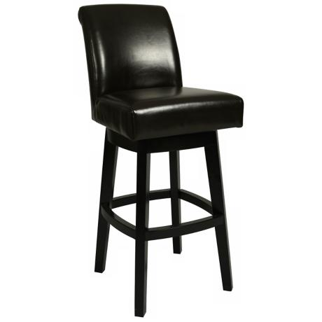 "Pastel Lake Village Black Swivel  26"" High Counter Stool"