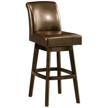 "Pastel Lake Village Brown Swivel 30"" High Bar Stool"