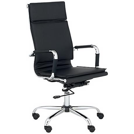 Cameron Black Faux Leather Highback Desk Chair