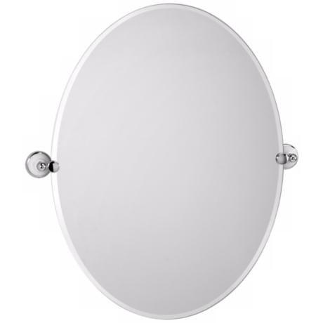 "Gatco Franciscan Oval Tilt 32"" High Wall Mirror"