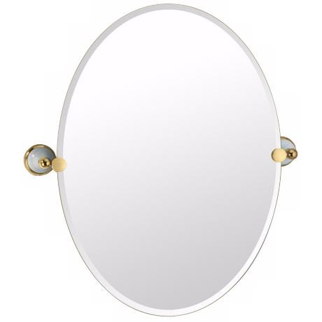 "Gatco Franciscan Oval 26 1/2"" High Tilting Wall Mirror"