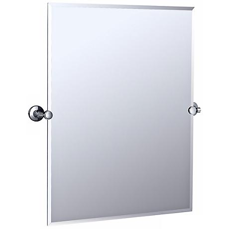 "Gatco Max Polished Chrome 31 1/2"" High Wall Mirror"