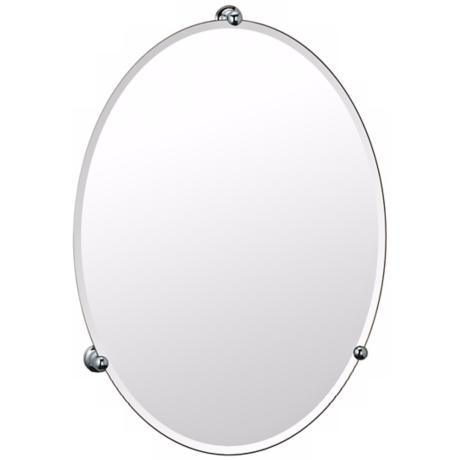 Gatco Oldenburg Chrome Finish Oval Wall Mirror