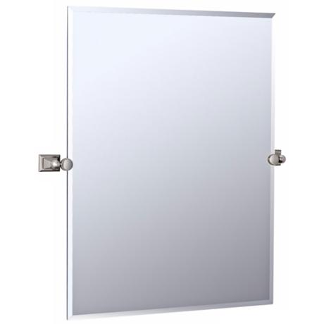 "Gatco Philadelphia Satin Nickel 31 1/2"" High Wall Mirror"
