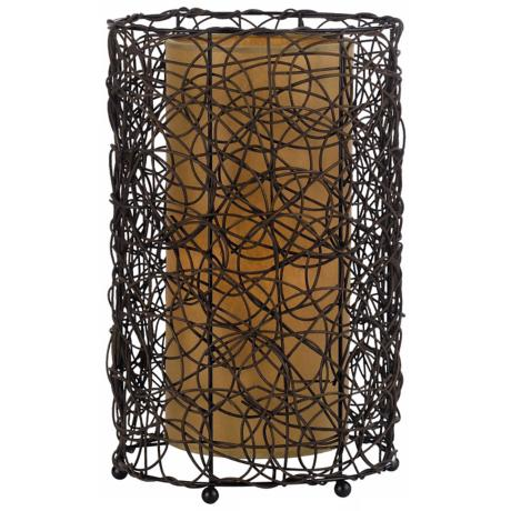 Twig Rattan Accent Lamp