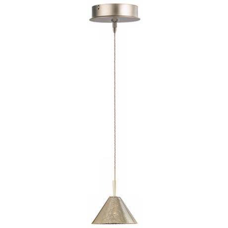 Alico Colander Matte Satin Nickel Mini Pendant