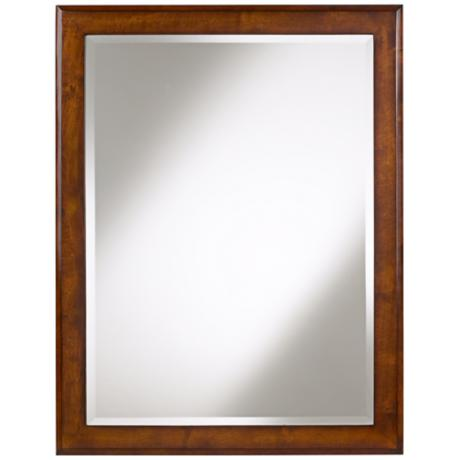 "Vernon Cherry Wood Finish 35"" High Sink Mirror"