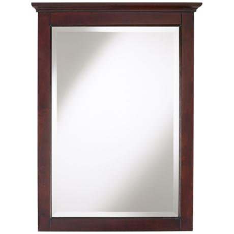 "Crown Espresso Finish 32"" High Vanity Mirror"
