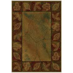 North Sky Collection Ancient Leaves Area Rug