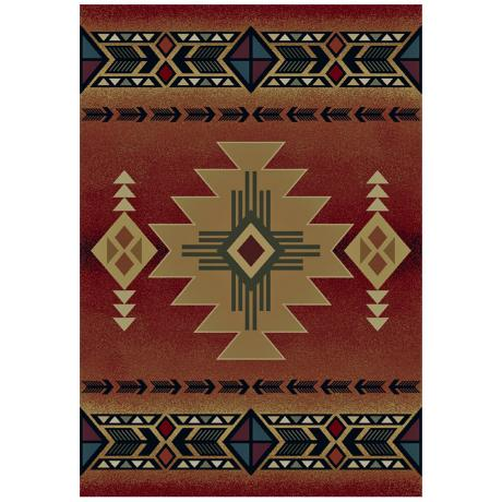 North Sky Collection Dove Creek Crimson Area Rug