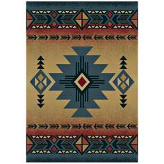 North Sky Collection Dove Creek Blue Area Rug
