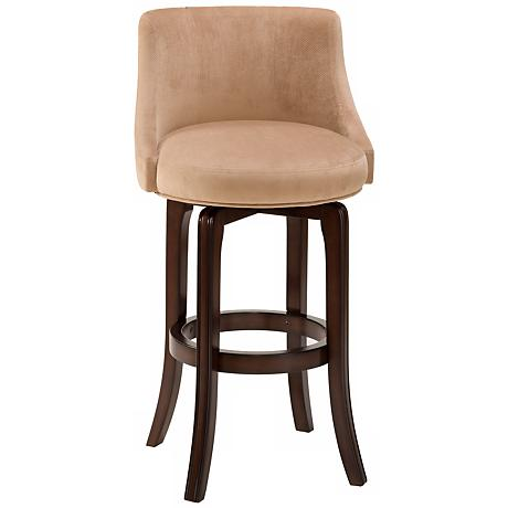 "Napa Valley Khaki 30"" Swivel Bar Stool"