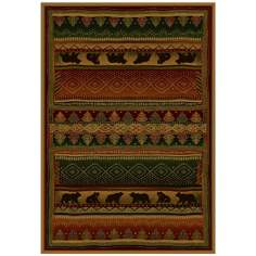 North Sky Collection Grizzly Ridge Lodge Area Rug