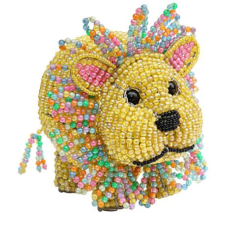 Beadworx Lion Hand-Crafted Beaded Night Light