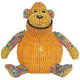 Beadworx Monkey Hand-Crafted Beaded Night Light