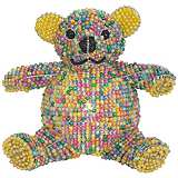 Beadworx Teddy Bear Hand-Crafted Beaded Night Light