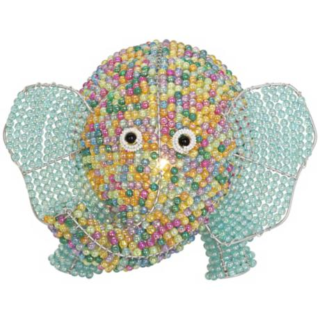 Beadworx Elephant Hand-Crafted Beaded Night Light