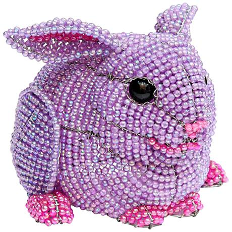 Beadworx Bunny Hand-Crafted Beaded Night Light