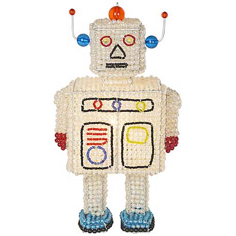 Beadworx Robot Hand-Crafted Beaded Night Light