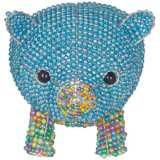 Beadworx Blue Pig Hand-Crafted Beaded Night Light