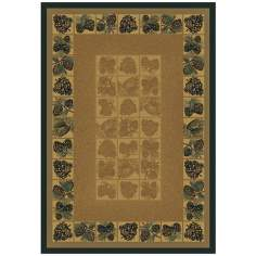 North Sky Collection Pinecone Natural Area Rug